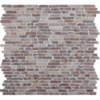 NAT.MOSAIIK 30X30 STICK MARBLE COCO BROWN