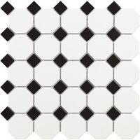 MOSAIIK 29.5X29.5 TECH OCTAGON WHITE MATT